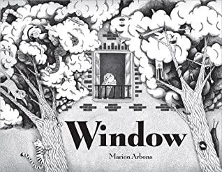 Window, Marion Arbona, Black/White, Trees, Girl, Window, Balcony, Children's Books, Imagination, Fantasy, Details, Children's Books