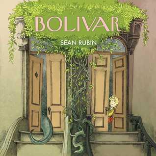 Sean Rubin, Bolivar, Humour, Dinosaurs, Obliviousness, Neighbours, Dual POV, Children's Book, Graphic Novel, New York City, New York, Houses, Door, Tail, Head, Girl, Plants, Stairs, Building, Fantasy,