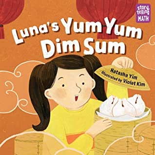 Luna's Yum Yum Dim Sum, Natasha Yim, Violet Kim, Pink, Clouds, Dim Sum, Girl, Pigtails, Picture Books, Children's Books, Birthday, Siblings, Maths