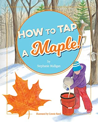 Girl, Snow, Bucket, Trees, How to Tap a Maple!, Stephanie Mulligan, Connie Rand, Tapping, Sap, Grandparents, Family, Sibling, Picture Book, Rhyme, non-fiction, Children's Books